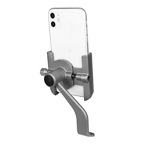 XHH Bike Phone Holder, Aluminum Alloy Bicycle Handlebars Mobile Phone Mount Anti-Shake for iPhone 11 Pro Max/XR/XS Max/SE/8/7 Plus, Samsung Galaxy S20 Ultra/S10e/S9 Smart Phones