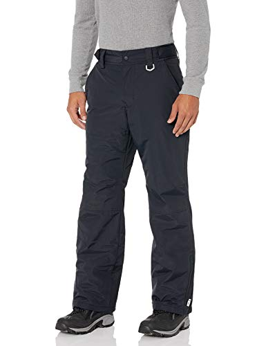 Amazon Essentials Men's Water-Resistant Insulated Snow Pant, Black, Large