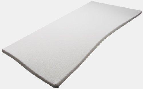 Pyramidenkönig 90cm x 200cm x 5cm Viscoelastische Matratzenauflage mit Bezug Coolmax, Härte 3, Visco Auflage Topper Memory Matratze Gelschaum