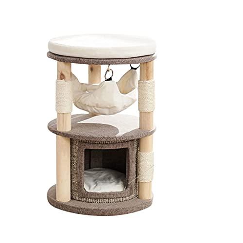 YAMMY Arbol de Gato Mueble de condominio Extragrande de Varios Niveles para árbol de Gato con Postes rascadores Cubiertos de sisal, 1 condón de Felpa más Grande (Mascota)