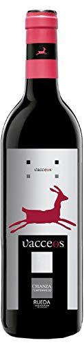 Vacceos Crianza Vino Tinto Tempranillo D.O Rueda - Botella de 750 ml, Bodega Cuatro Rayas