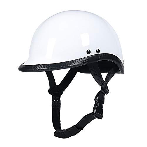 Retro Scoop Casco Moto Half-Helmet,Gorra De BéIsbol Casco De Moto Jet Medio Casco Certificado ECE Casco Scooter Casco Retro Personalidad Casco De Moto Abiertos E,52~58cm