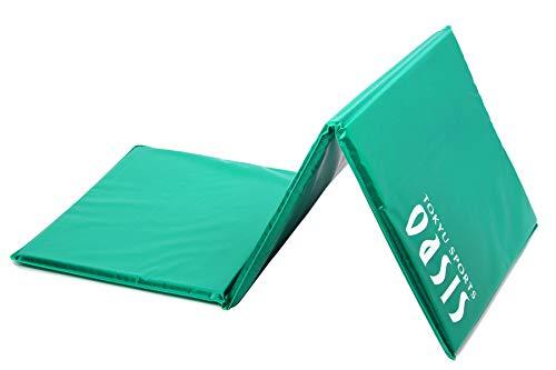 東急スポーツオアシスフィットネスクラブがつくったエクササイズマット(三つ折り)ストレッチピラテス158cm×62cm×2.5cm(グリーン)