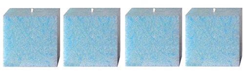 Amabiente–Diseño Candles minicube Dados Vela de 4Unidades, Azul Celeste, 5 x 5 x 5 cm