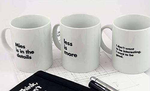 Mies Pack de 3 Tazas Van Der Rohe - Producto Oficial de...