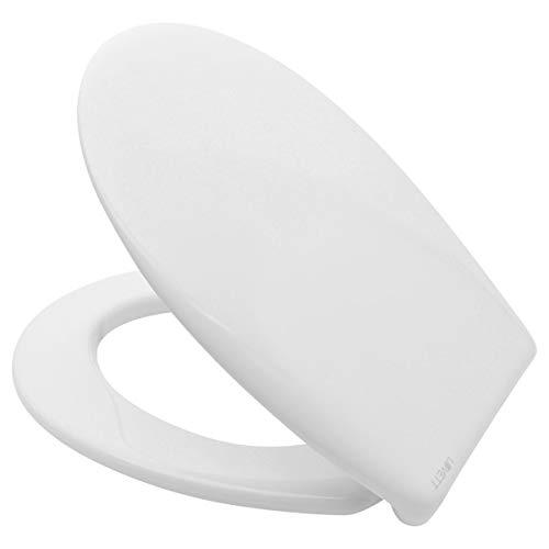 LUVETT WC-Sitz C400 oval mit Absenkautomatik SoftClose® & TakeOff® EasyClean Abnahme, Duroplast Toilettendeckel, Farbe:Weiß