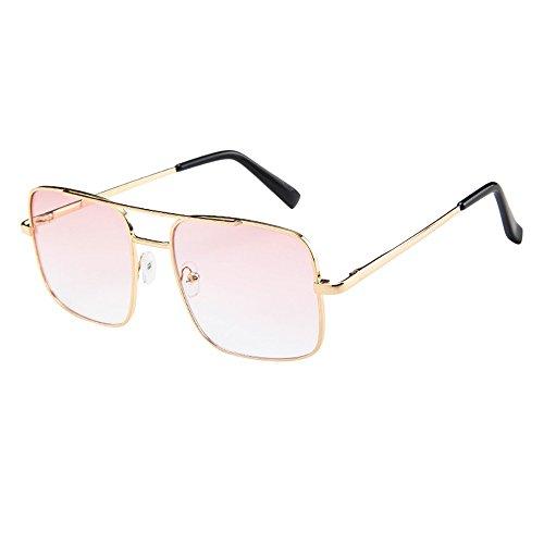 IFOUNDYOU Metall Frame Retro Glasrahmen-Ebenenspiegel Dekobrille Klassisches Rund Rahmen Glasses Klare Linse Brille
