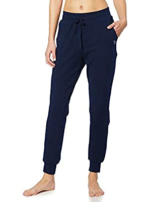BALEAF Women's Active Yoga Sweatpants Workout Joggers Pants Cotton Lounge Sweat Running Pants with Pockets Navy Blue Size M