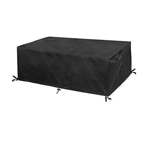 Abdeckung für Gartenmöbel, 218 x 218 x 90 cm, Abdeckung für Außenbereich, Terrasse aus Stoff, Sitzschutz vor Sonne, Regen und Staub,