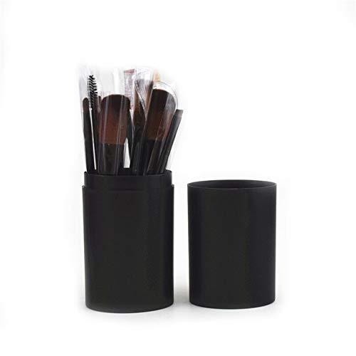 PoplarSun 12pcs Maquillage Pinceaux Barrel Ombre à paupières Pinceau Fard à Joues Pinceau Poudre Pinceau Pinceau de Maquillage des Yeux for Les Yeux Outils Pinceau (Handle Color : 02)