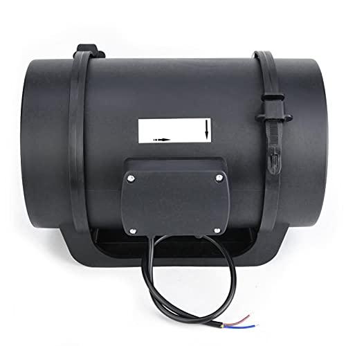 Ventilador de canal de 8 pulgadas, motor EC 760 CFM, ventilador con velocidad ajustable para lugares públicos para edificios de oficina de alta gama (220 V).