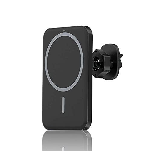ATIN Soporte magnético para coche cargador inalámbrico compatible con iPhone 12/12 Pro/Pro Max/Mini,15 W de carga rápida Airvent Mount Soporte para teléfono móvil Soporte Mag Safe Case