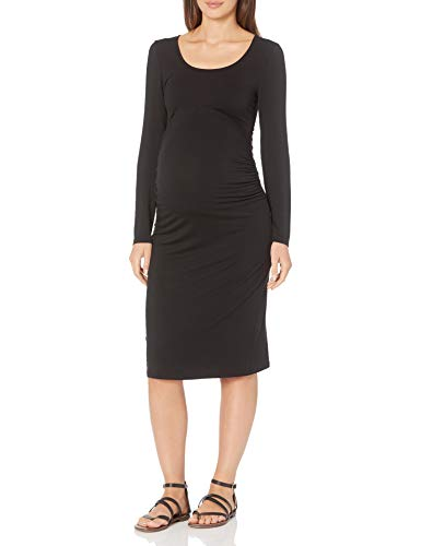 Amazon Essentials Women's Maternity Long-Sleeve Dress, Black, Large