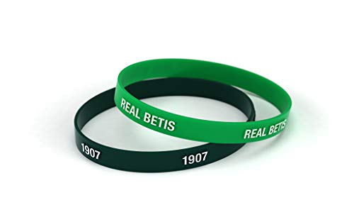 Real Betis Balompié Pulsera Relieve Verde y Negra Estándar para Hombre | Pulsera de Silicona | Apoya al Real Betis con un Producto Oficial verdiblanco | RBB