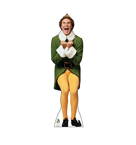 Advanced Graphics Buddy The Elf Excited Life Size Cardboard Cutout Standup - Elf (2003 Film)