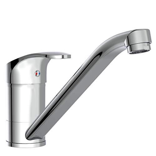 instmaier K1 // Spültischarmatur Hochdruck // Premium Qualität // Wasserhahn Küche // mit Verbrühschutz // 360° schwenkbar // Mischbatterie // Einfache Montage // Chrom