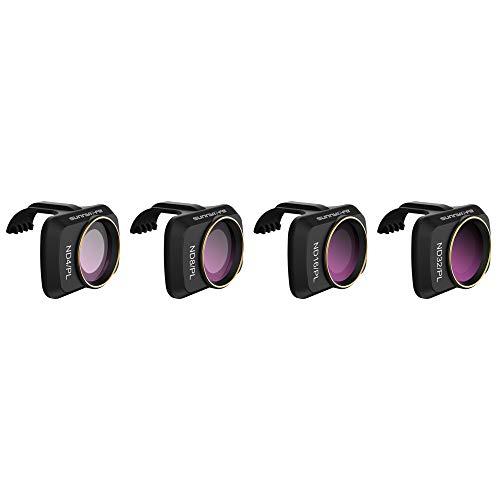 Hensych Filtro obiettivo fotocamera per Mavic Mini/Mavic Mini 2/ Mini SE Drone, MCUV CPL ND NDPL Filtro Alta trasmissione Cornice di modellazione integrata (ND4/PL+ND8/PL+ND16/PL+ND32/PL)