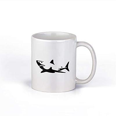 Shark Ceramic Coffee Mug | Cool Chark Design Coffee Cup | 11-Ounce Coffee Mug | M136