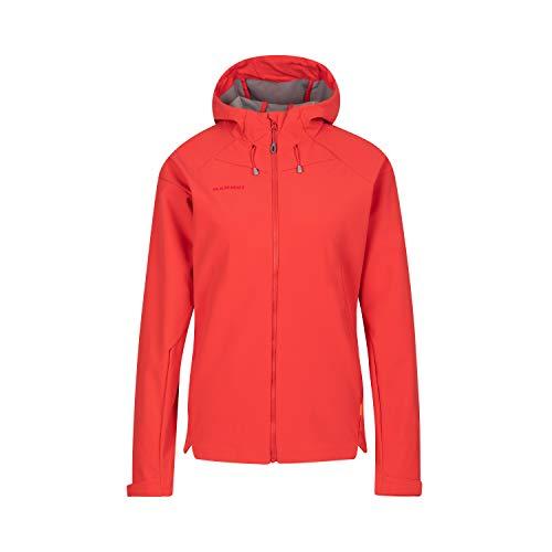 Mammut Damen Sapuen Hooded Softshell-Jacke mit Kapuze, Rot (sunset), S