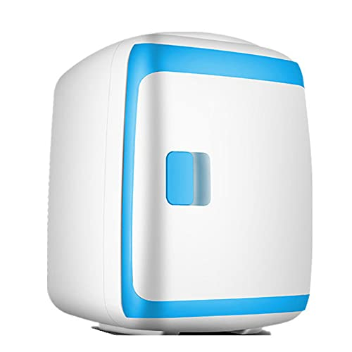 2 in 1 Mini Fridge, 13 Liter Portable Car Refrigerators with Cooling and Heating Function 5 ° C-65 ° C Small Freezer 12V DC / 220V AC for Car and Household Fridge, 27Db Refrigerator,Blue