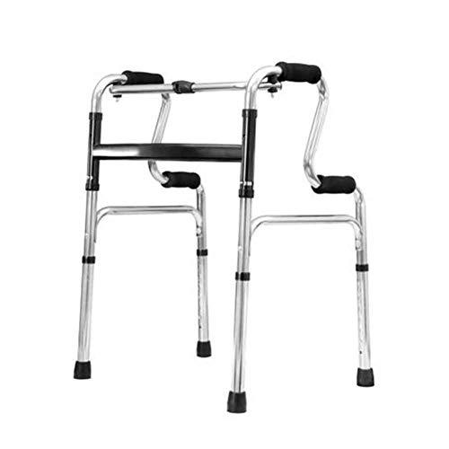SSNG Walker Andador Plegable/Andador Sin Ruedas Fijo Plegable,Andador Ligero/Andador De Aluminio para Asistencia Sanitaria con Ruedas, Altura Ajustable