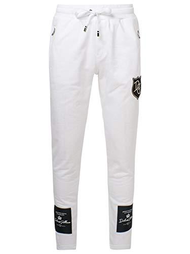Luxury Fashion | Dolce E Gabbana Uomo GW3EAZG7XEYW0800 Bianco Cotone Joggers | Autunno-Inverno 20