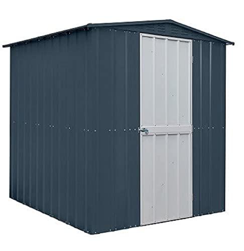 Globel Grey 6x6 Anthracite Metal Apex Shed Door