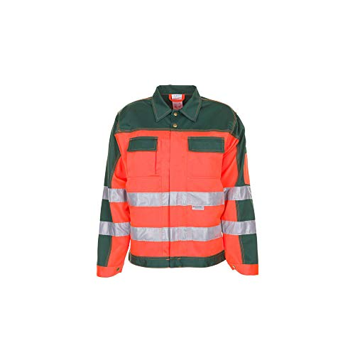 Planam Bundjacke Warnschutz, Größe 48, 1 Stück, orange/grün, 2008048