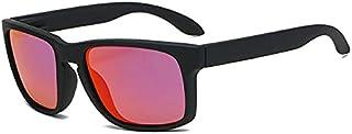 IAMZHL - Gafas de Sol polarizadas cuadradas de Moda para Hombre Gafas de Sol de plástico Retro para Hombre Gafas de Sol Deportivas Negras de Moda para Mujer UV400