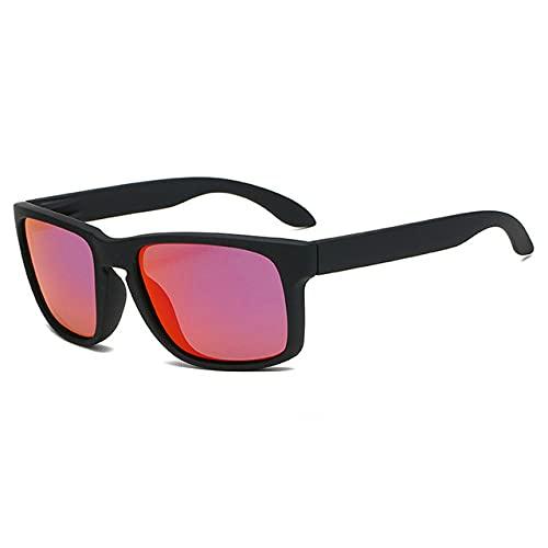 Berrd Gafas de Sol polarizadas cuadradas de Moda para Hombre Gafas de Sol de plástico Retro para Hombre Gafas de Sol Deportivas Negras de Moda para Mujer UV400