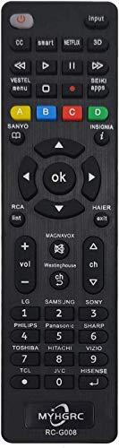 MYHGRC Universal-TV-Fernbedienung, kompatibel mit Mehrmarken-Fernbedienungen, einfach zu kombinieren mit Samsung LG Sony Hisense Scharf Toshiba Hitachi Das Einrichten Ihres Fernsehgeräts ist einfach