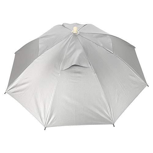 Taidda- 【2021 Neujahrsangebot】 Regenschirm-Kappe, handfreier Regenschirm-Kappen-Fischen-Hut im Freien wasserdichter UVschutz Leichtgewichtler