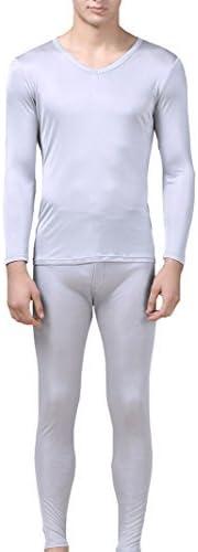 Men's Silk Thermal Underwear Sets | Silk Long Underwear | V-Neck Silk Long John for Men