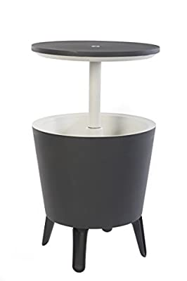 Keter Modern Cool Bar Outdoor Patio Furniture and Hot Tub Side Table