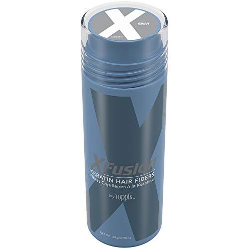 XFusion Economy Size Keratin Hair Fibers, Gray, 0.98 Ounce, 28 Gram