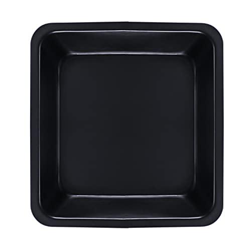 Bandeja para hornear profundos, utensilios para hornear antiadherentes negros, molde cuadrado para pasteles, para brownies, pasteles, dulces crujientes de arroz y lasañas, 20 * 20 * 5 cm