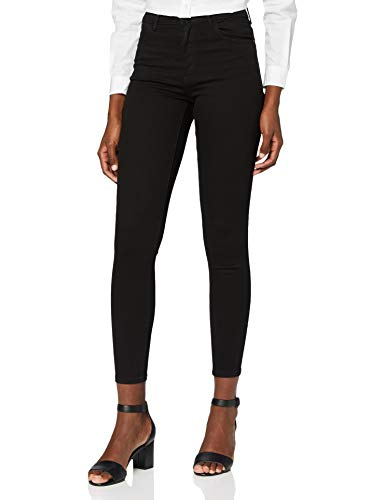 Wrangler Damen Skinny Jeans HIGH RISE SKINNY, Schwarz (Rinsewash 023), W30/L30