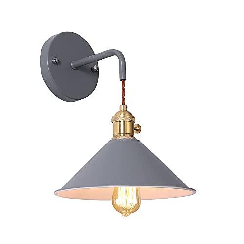 Lampada da parete Industriale, Applique da parete vintage in metallo Applique rustica retrò per cucina, soppalco, ristorante, bar, camera da letto