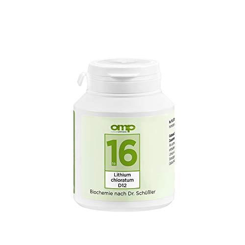 Schüssler Salz Nr. 16 Lithium chloratum D12 | 400 Tabletten | Das Salz für Eiweißstoffwechsel und Entschlackung | glutenfrei