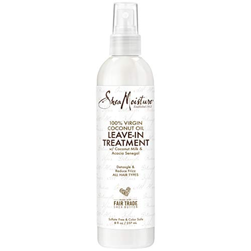 SheaMoisture 100% Virgin Coconut Oil Daily Hydration Leave-In Treatment,8 Oz