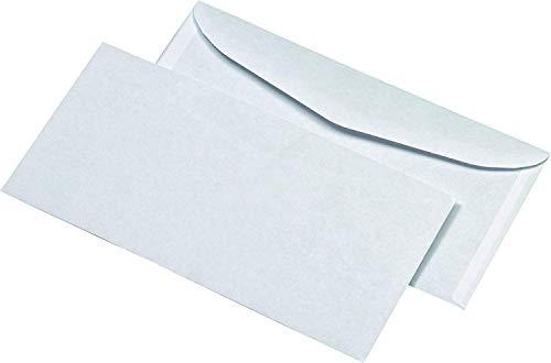 ELEPA 30005468 Kuvertierumschläge ohne Fenster mit ASK (114x229mm), gummiert, 75 g/qm, 1.000 Stück