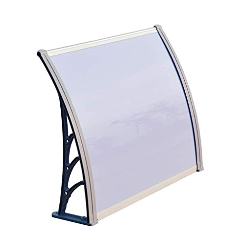 Regendicht deurmarkies Outdoor deurmarkies Garden Canopy, Shelter Front Porch, Silent PC Endurance Board, beschermd tegen de zon/regen/sneeuw zonnescherm (Color : Gray, Size : 80×100cm)