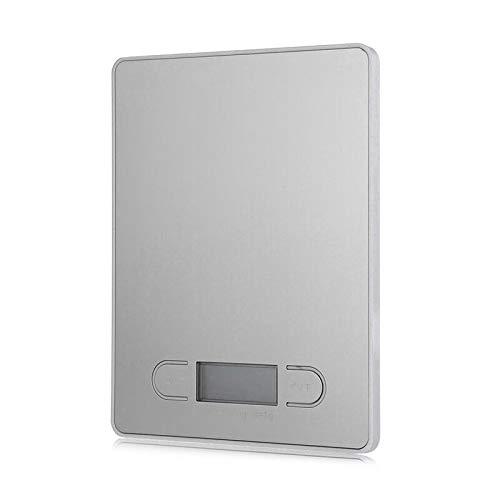 KANJJ-YU Báscula electrónica de cocina báscula de cocina báscula de joyería báscula de precisión de cocina de acero inoxidable panel de peso gramos, báscula de cocina (color: blanco)