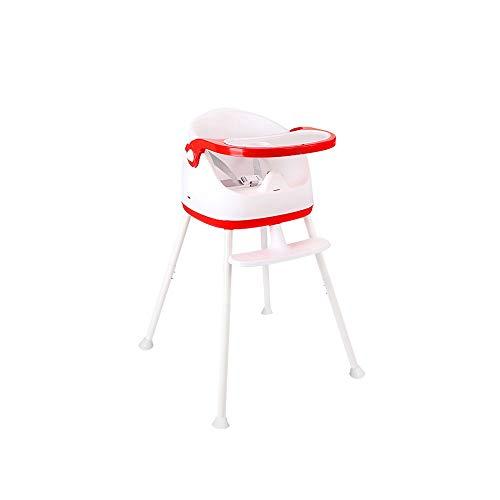 ZXQZ Chaise haute for bébé, siège for table de salle à manger for enfants multifonctionnel commercial, siège à domicile, portable, pliable, 3 modes, avec plateau et ceinture de sécurité