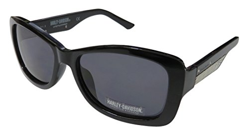 Harley-Davidson Hd 5032s For Ladies/Women 100% UVA & UVB Lenses Strass Modern Shades Sunnies With Rhinestones Sunglasses/Eyewear (56-17-135, Black/Silver) (56-17-135, Black/Silver)