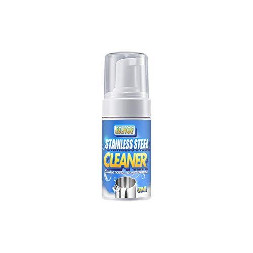 30 ml Küchenreiniger Reinigungsmittel Edelstahl Reinigung Rostentferner Schaumreiniger Dekontamination Spray für Dunstabzugshaube Gasherd Edelstahl Geschirr 10,5 * 3 cm