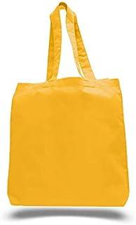 Q-Tees QTBG Economical Tote Bag with Bottom Gusset-Texas Orange-ONE