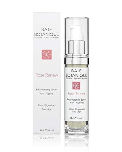 Sérum Anti-Âge 30ml - Acide Hyaluronique Botanique - Eau de Rose, Absolu de Rose, Huile de Graines D'églantier, Acide Glycolique - Primé - Naturel à 98%, Biologique à 80%