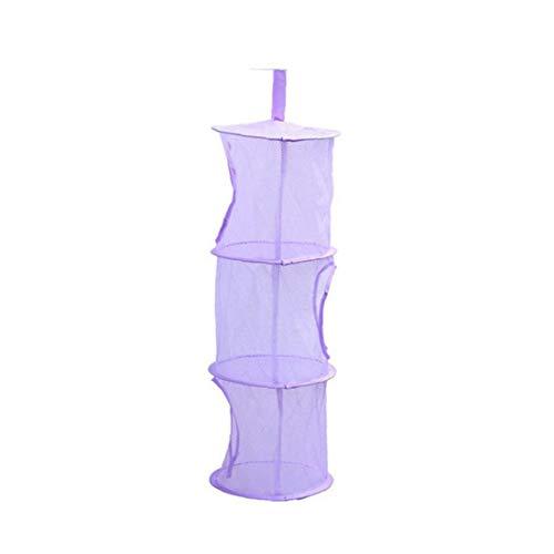 Aisoway Hängen Mesh-Speicher-Korb Faltbare Raumersparnis Spielzeug Organizer für Zimmer Badezimmer-Wand Balkon Kleiderschrank