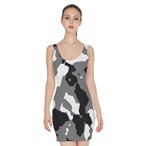 T-ara Estilo impresión Ocasional Causing Piel Vestido para Las Mujeres Ropa Normal Alrededor de la Camuflaje Patrón Impreso Mini Falda Falda Kanwear Sillón Estilo de Moda
